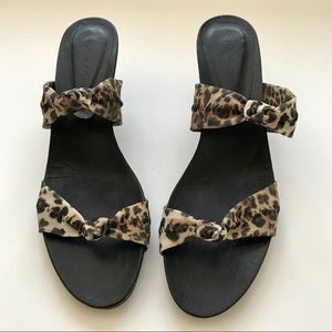 New! Animal Print Sandals by Donald J Pliner
